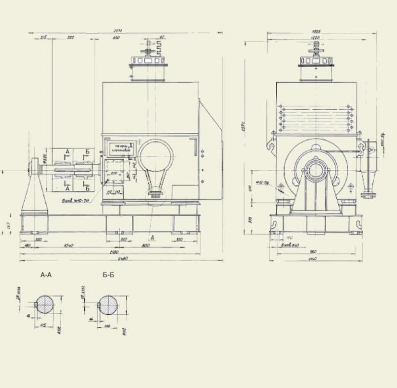 Электродвигатели ДАП и ДАП-М (800-2500 кВт)